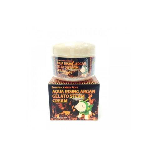 Elizavecca MIlky Piggy Aqua Rising Argan Gelato Steam Cream Паровой увлажняющий крем с маслом арганы, 100 г / 750147