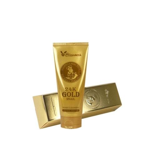 Elizavecca 24K Gold Snail Cleansing Foam Пенка для умывания с золотом и муцином улитки, 180 мл