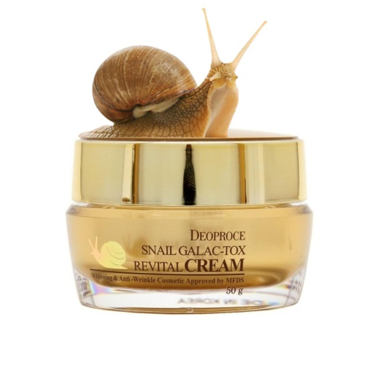 DEOPROCE Snail Galac-Tox Revital Cream Крем для лица с муцином улитки