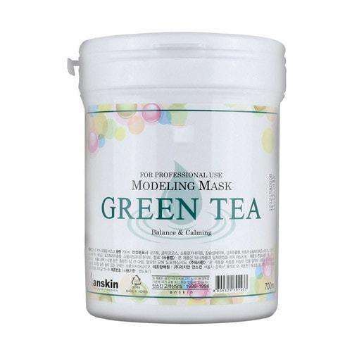 Anskin Green Tea Modeling mask Альгинатная маска для чувствительной кожи, успокаивающая, 240 г