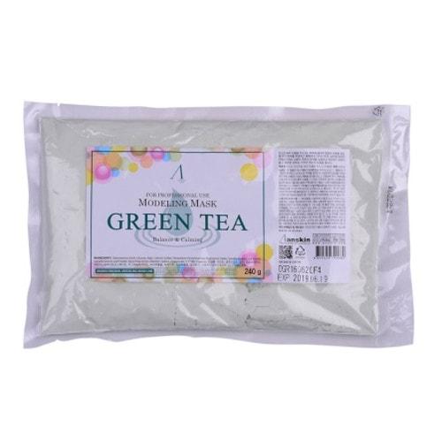 Anskin Green Tea Modeling mask refill Альгинатная маска для чувствительной кожи ,240 г