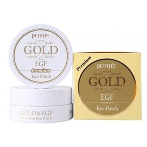 Petitfee Гидрогелевые патчи для глаз Premium Gold & EGF Eye Patch, 60шт/ 802445