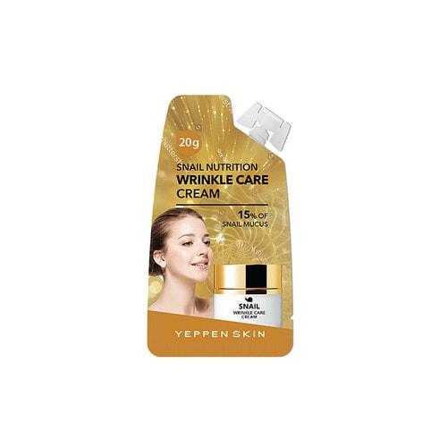 Yeppen Skin Питательный, разглаживающий морщины крем с секрецией улитки (15 %), пептидами и растительными эзстрактами, 15 г./ 859654