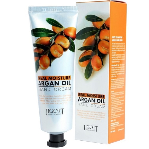JIGOTT Real Moisture Argan Oil Hand Cream Увлажняющий крем для рук с аргановым маслом