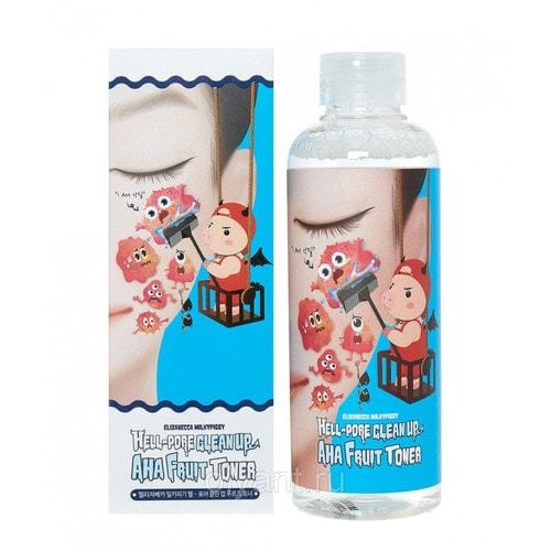 Elizavecca  Hell Pore Clean Up Aha Fruit Toner Тоник-пилинг на основе фруктовых кислот , 200 мл. / 907910