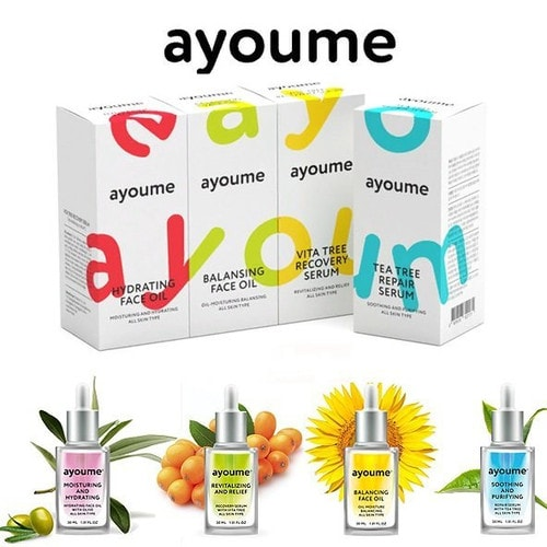 AYOUME  Moisturing-&-Hydrating Face oil with Olive Масло для лица увлажняющее, 30мл./ 822843