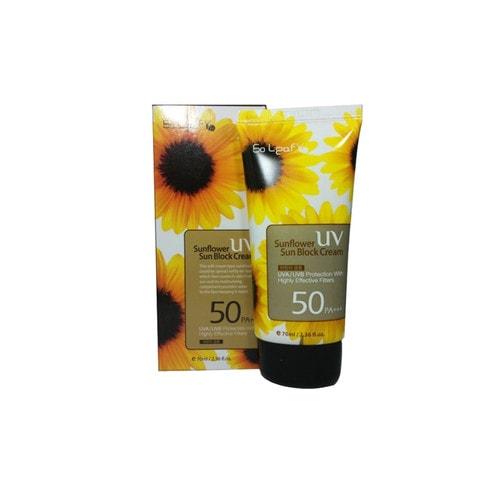 3W CLINIC Sunflower Sun Block Cream SPF 50PA+++ Солнцезащитный крем для лица, 70 мл./119984