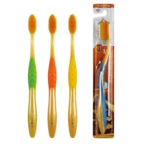 Nano Gold Toothbrush / Зубная щетка c наночастицами золота, сверхтонкой двойной щетиной, средней жесткости/ 160133