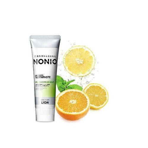 LION Nonio Зубная паста отбеливающего и длительного освежающего действия с мятно-цитрусовым вкусом