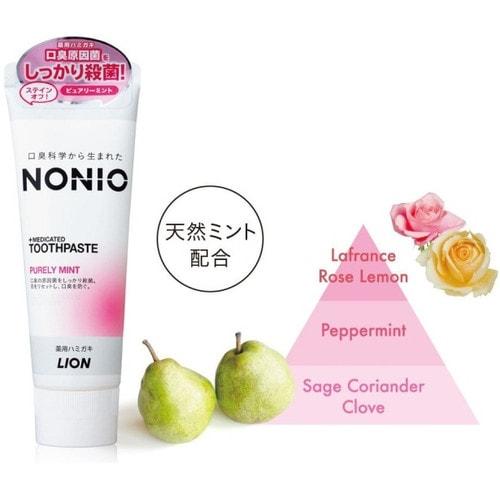 LION Nonio Профилактическая отбеливающая зубная паста (фрукты, мята), 130 г