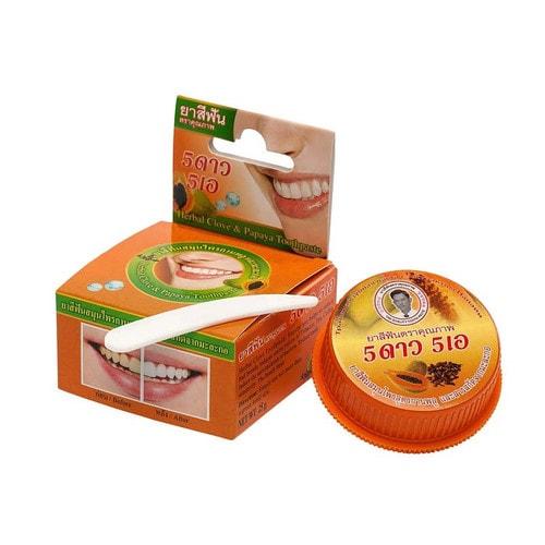 Зубная паста травяная отбеливающая с экстрактом папайи 25 г