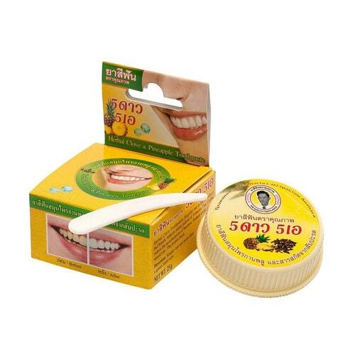 Зубная паста травяная отбеливающая с экстрактом ананаса, 25 г