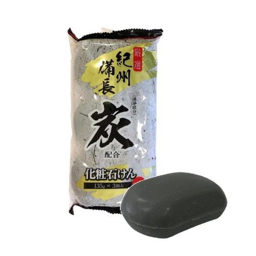 MAX Soap Японское мыло туалетное Древесный уголь ,135 гр * 3 шт