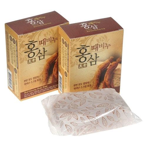 MUKUNGHWA Miso Red Ginseng Scrub Soap (for pharmacy) Мыло-скраб (красный женьшень), 100 г.