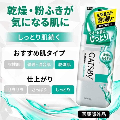 Gatsby Skin Care Aqua Cream Мужской увлажняющий лосьон для ухода за проблемной кожей, склонной к воспалениям и Акне, 170 мл