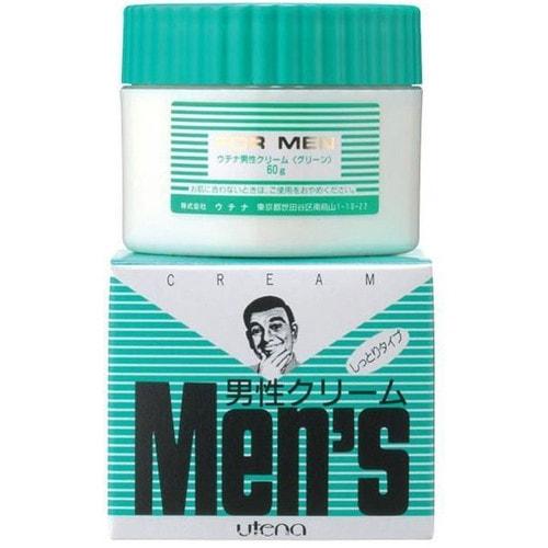 UTENA Men's Увлажняющий крем после бритья для сухой и чувствительной кожи с хлорофилом 60г