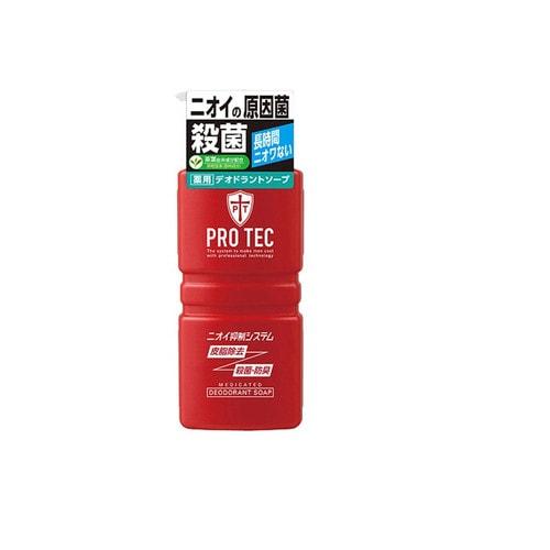 LION «Pro Tec» Мужское дезодорирующее жидкое мыло для тела, с ментолом, цитрусово-морской аромат, 420 мл./241829