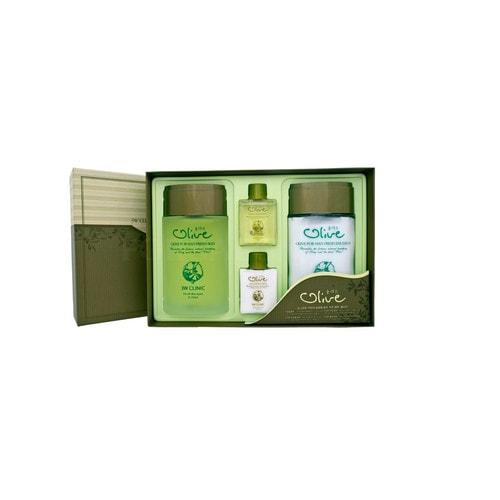 3W CLINIC Clinic Olive for Man Fresh 2 Items Set Набор для ухода за мужской кожей с экстрактом оливы