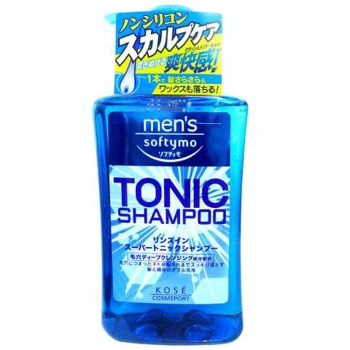 KOSE COSMEPORT Men's Softymo  Мужской тонизирующий шампунь для волос, цитрусовый аромат, 550 мл / 315592