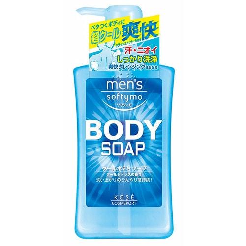 KOSE COSMEPORT Men`s Softymo Мужской гель для душа с охлаждающим эффектом, цитрусовый аромат,550 мл / 380644