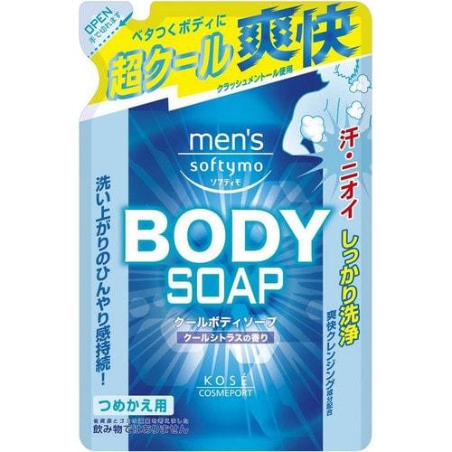KOSE COSMEPORT Men's Soft Мужской гель для душа c охлаждающим эффектом 400 мл./380651