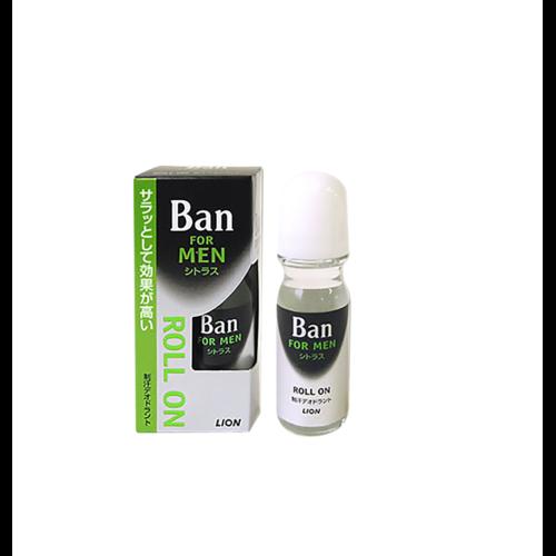 LION Ban Roll On For Men Шариковый дезодорант для мужчин с ароматом свежего цитруса , 30 мл. / 533696