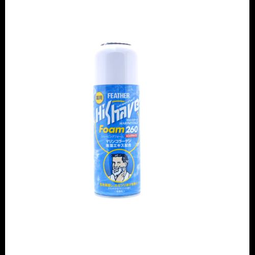 """Feather """"HiShave"""" MarineStage  Пена для бритья с лечебным эффектом , морской коллаген и экстракт водорослей, 260 г/ 832463"""