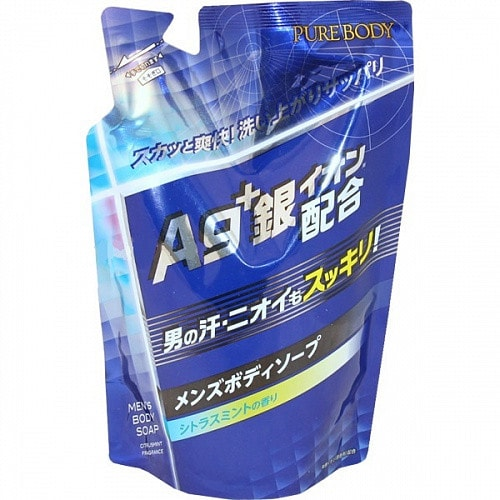 Mitsuei Pure Body Крем мыло для мужчин с ионами серебра,аромат цитруса и мяты