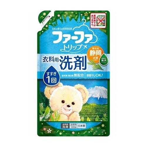 LION Nissan FaFa Shizuoka Жидкое средство для стирки белья с антибактериальным эффектом и ароматом зелёного чая