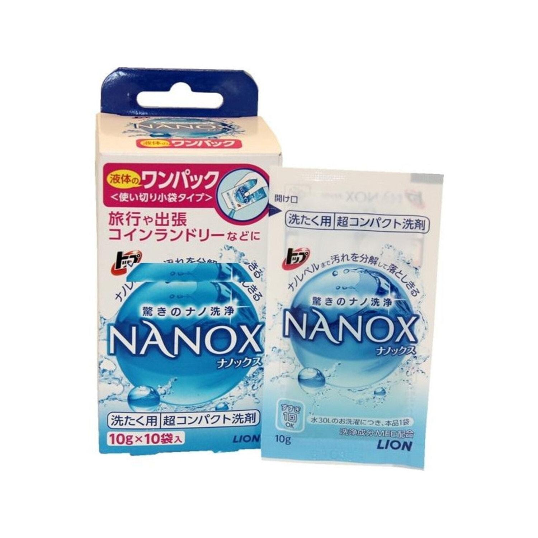 LION Топ-Nanox Super  Гель для стирки концентрированный 10 пакетиков*10 гр