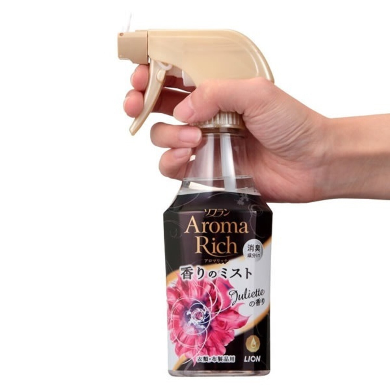 LION  Juliette Aroma Rich Кондиционер спрей для белья, аромат ландыша, ванили и жасмина, 280 мл