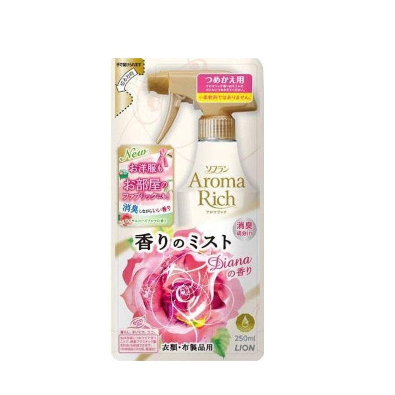 LION «Diana» Кондиционер-спрей для белья с чарующим ароматом роз, мягкая упаковка, 250 мл./ 248484