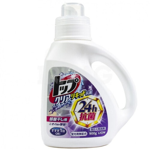 Lion Top Clear Liquid Жидкое средство для стирки белья с антибактериальным эффектом Топ-сухое бельё, 900 мл