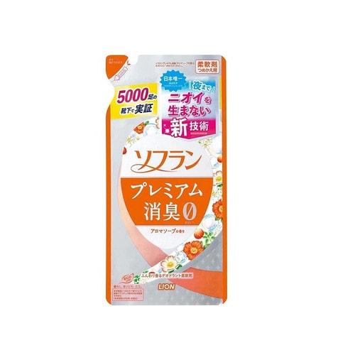 LION  SOFLAN Premium Deodorizer Zero-O Кондиционер для белья аромат цветочного мыла, смен.бл.