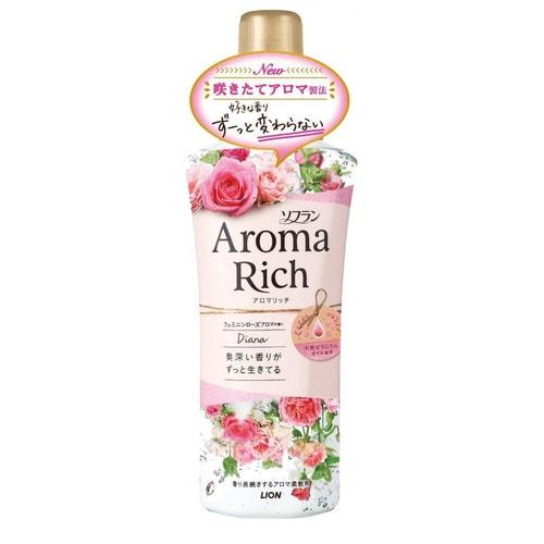 LION  Aroma Rich Diana Кондиционер для белья  с богатым ароматом натуральных роз