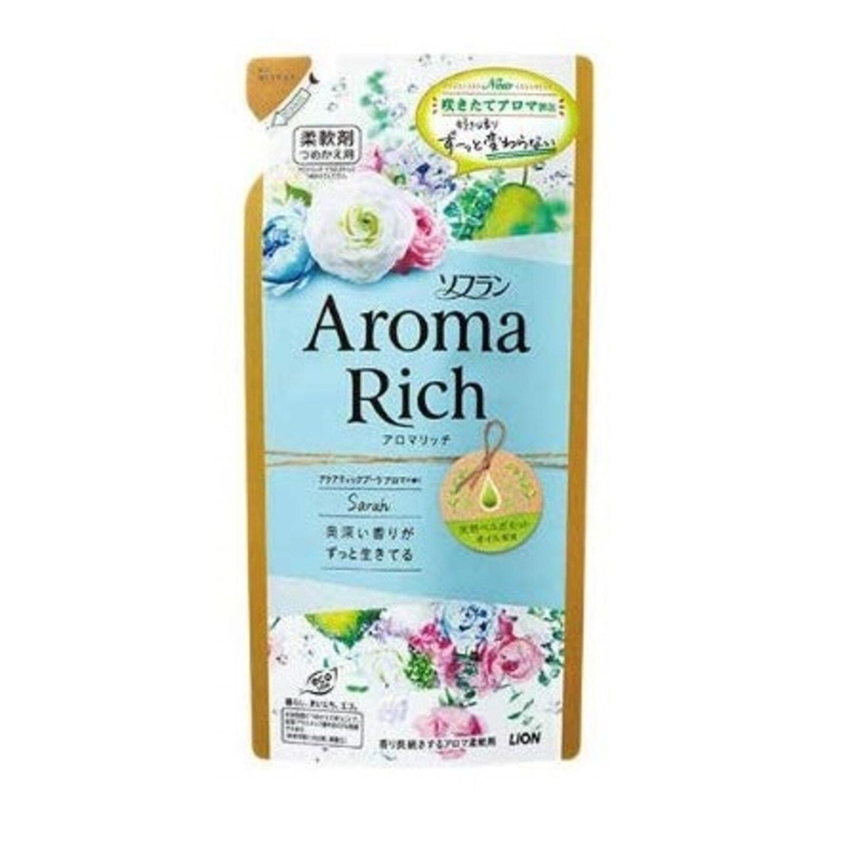 LION  Aroma Rich Sarah Кондиционер для белья ДЛИТЕЛЬНОГО действия с богатым ароматом натуральных масел, см.бл.