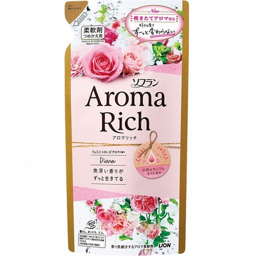 LION Aroma Rich Diana Кондиционер для белья  с богатым ароматом натуральных роз, смен.  бл.