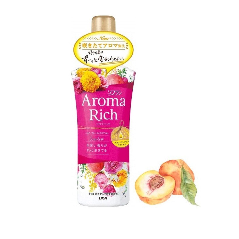 "Lion ""Soflan Aroma Rich Scarlett"" Кондиционер-ополаскиватель для белья мимоза, персик, фрукты"