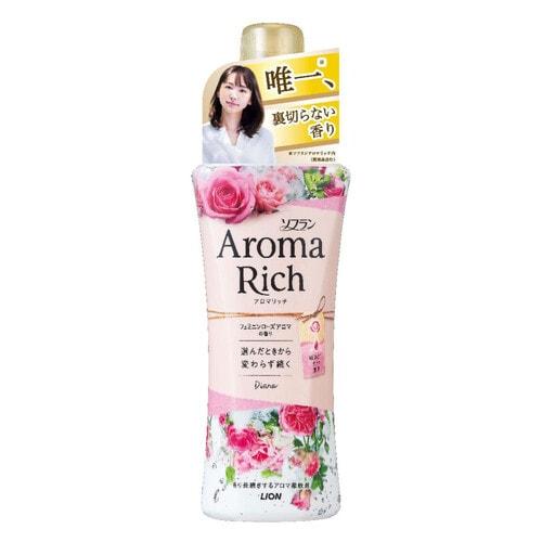 LION SOFLAN AROMA RICH DIANA Кондиционер для белья с ароматом натуральных масел, 520 мл