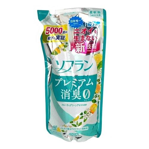 LION Soflan Premium Deodorizer Zero 0 Кондиционер для белья с ароматом цитрусов и цветов, 420 мл