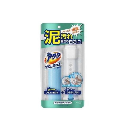 KAO Attack Pro EX Хозяйственное мыло с щеткой от стойких загрязнений, 80 г./ 346889