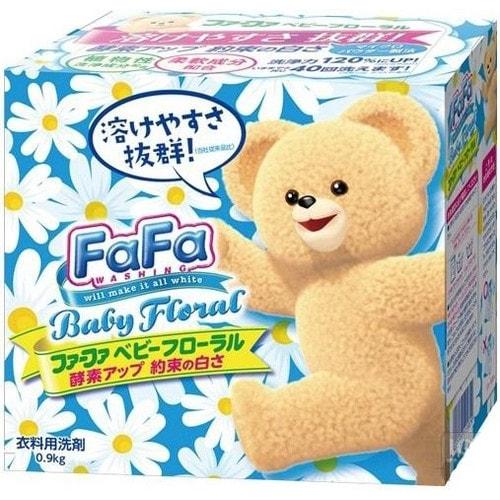 Nissan Fa-Fa Cтиральный порошок для детской одежды с ферментами, цветочным ароматом