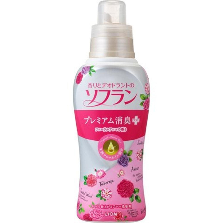 LION SOFLAN Aroma Natural Кондиционер для белья аромат букета роз