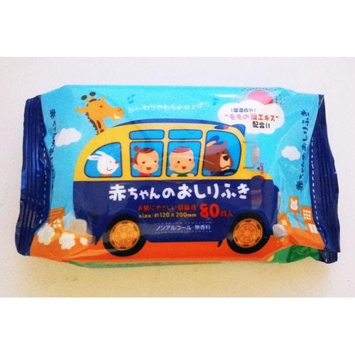Showa Siko Влажные салфетки для ухода за нежной кожей тела малышей с экстрактом листьев персика 80 шт