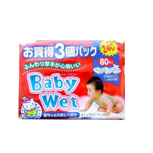 Showa Shiko Easy Сare Baby Wet Влажные салфетки для ухода за нежной кожей малыша S с экстрактом алоэ вера / 80 шт