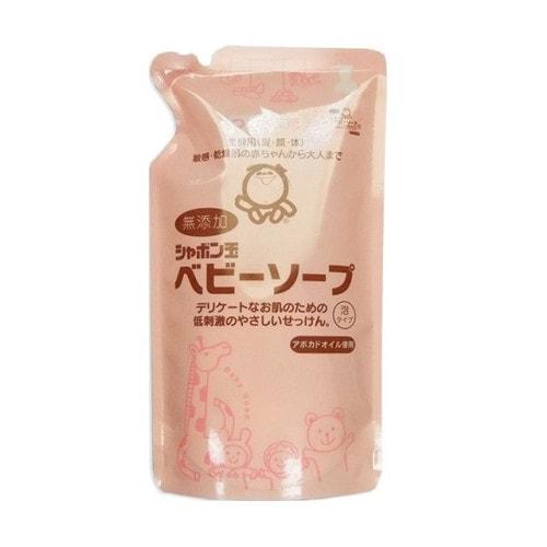 SHABONDAMA Пенное детское мыло для тела с маслом авокадо, смен. блок