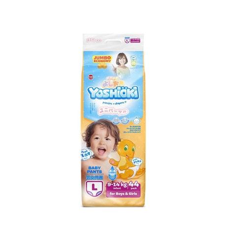 YOSHIOKI Трусики-подгузники детские одноразовые для мальчиков и девочек, размер L 9-14 кг, 44 шт./ 744668