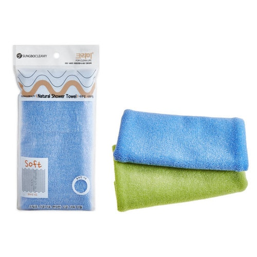 SB CLEAN & BEAUTY Natural Shower Towel Мочалка для душа 28*100, 1 шт./101332