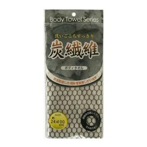 LEC Женская мягкая мочалка с угольной нитью, 24 × 100 см./981834
