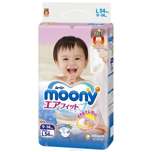 Подгузники MOONY L54(9-14кг) без логотипа/244003